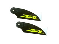 ZHT-070Y ZEAL Carbon Fiber Tail Blades 70mm (Yellow) - Goblin 380