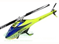 Goblin 380 Yellow/Blue (with 380mm Black line main blades)